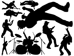 Rock Star Silhouettes Clip Art Library