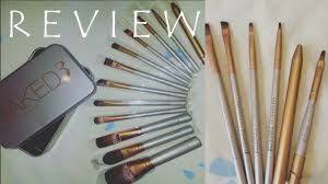 review urban decay makeup brush tin set