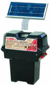 Fi Shock Xr 6 Professional Solar Powered 6 Volt Fence Energizer 25 Mile Range Electric Fence Charger