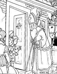 Sinterklaas Knutselen Sinterklaas Kleurplaten Hoor Wie Klopt