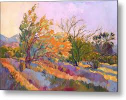 desert garden metal print by erin hanson