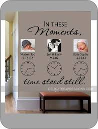 In These Moments Time Stood Still Personalized Wall Decal Etsy Family Wall Decals Wall Stickers Family Family Wall
