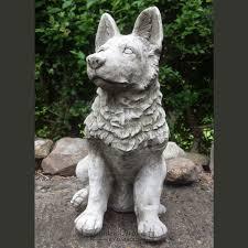 alsation german shepherd garden statue