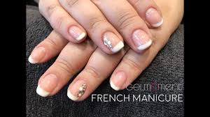 French Manicure With Gelmoment Youtube