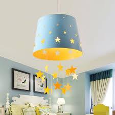 star blue hanging drum shade kids