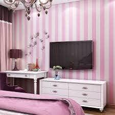 Pink Blue Stripes Wallpaper For Kids Room Baby Girls Boys Bedroom Decor Wallpapers Tv Backdrop Striped Wall Papers Roll Qz127 Wallpapers Aliexpress