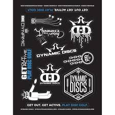Dynamic Discs Sticker Sheet