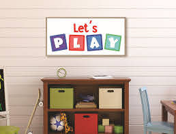 Lets Play Sign Playroom Sign Toy Room Wall Art Toy Room Sign Kids Game Room Sign Playroom Decor Family Game Room Children S Room Sign Wood