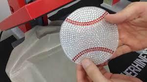 How To Make A Baseball Rhinestone Car Window Decal Bling N E Thing The Rhinestone World Youtube