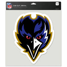 Football Nfl Sports Mem Cards Fan Shop Baltimore Ravens Car Window Decal 8 X 8 Die Cut Color