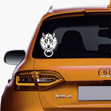 Fenrir Cloud Symbol Final Fantasy 7 Decal Sticker For Cars Truck Suv S Van Window Mirror Decal For Cars Truck Suv S S Window S Mirror Decal Car Stickers Decals