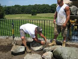 building a rock garden old house new