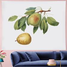 Fresh Style Friuts Wall Hanging Painting Pear Goblen Kids Room Tapestry Wall Tapestry Yoga Mat Mandala Beach Beach Home Decor Tapestry Aliexpress