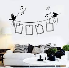 Vinyl Wall Decal Photo Frames Birds Music Home Decor Stickers Unique G Wallstickers4you