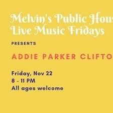 Friday Night Live Music | Addie Parker Clifton - Parkbench