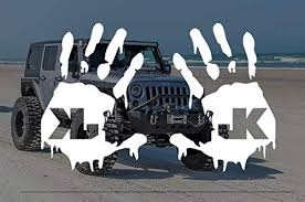 Jeep Wave Decal Sticker For Jeep Wrangler Rubicon Unlimited Sport Yj Tj Jk Jk Jl Jlu Window Mirror Multi Color Decals