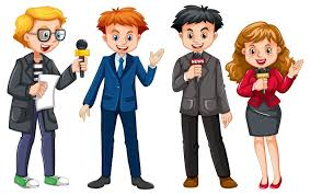 Set of news reporter character - Download Free Vectors, Clipart Graphics &  Vector Art