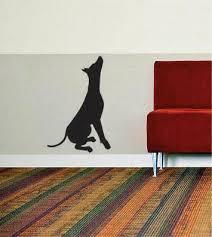 Dog Silhouette Version 2 Design Animal Decal Sticker Wall Vinyl Decor Boop Decals