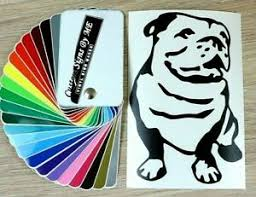 English Bulldog Car Sticker Vinyl Decal Adhesive Window Bumper Tailgate Laptop Ebay