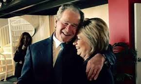 There's nothing wrong with Hillary Clinton hugging George W Bush | Jonathan  Jones | Opinion | The Guardian