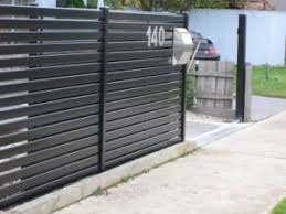 Horizontal Metal Fence Panels Modern Fence Aluminum Fence Fence Design