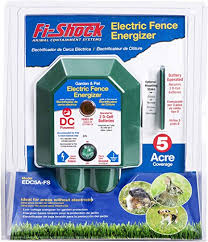 Amazon Com Fi Shock Electric Fence Garden Pet Energizer 5 Acre Coverage Edc5a Fs Light Duty Energizer Perfect For Garden Protection And Area W O Electricity Powered By Two D Cell Batteries Not Included