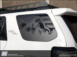 Toyota 4runner American Flag Mountain Side Window Decal Fits 2010 Importequipment