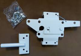 Vinyl Gate Latch White For Vinyl Wood Pvc Etc Fencing Fence Gate Latch W Mounting Hardware Gate Latches Have A 90 Degree Bracket Resulting In A Positive Latch To Gate Connection