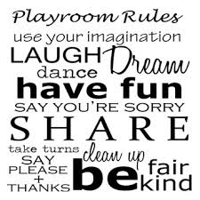 Second Life Marketplace Decorama Playroom Rules Wall Decal