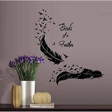 Decal Birds Of A Feather Wall Or Window Decal 22 X 26 Walmart Com