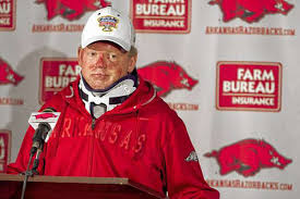 fired as Arkansas football coach ...