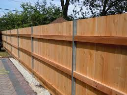 Steel Posts On Wooden Fence Google Search Metal Fence Posts Metal Fence Wood Fence Design