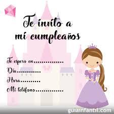 Invitaciones De Cumpleanos Con Princesas Para Imprimir