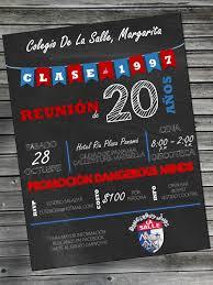 Fiesta De Exalumnos Invitaciones Colegio De La Salle Fiesta