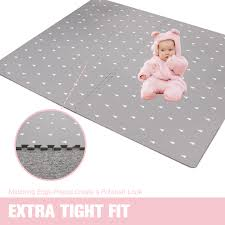 Baby Play Mat With Fence Extra Large 4ft X 6ft Non Toxic Foam Puzzle Floor Mat For Kids Toddler Walmart Com Walmart Com