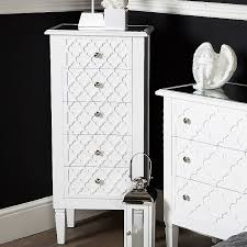blanca white wooden mirrored top
