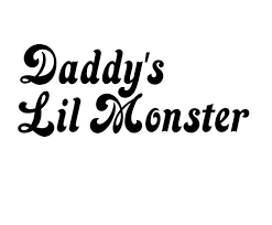 Amazon Com Daddy S Lil Monster Vinyl Decal Harley Quinn Sticker Suicide Squad Decal Handmade