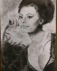 Sofia Loren #ritratto #sofialoren #charcoal #passione #dis…