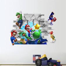 Super Mario Wall Stickers For Nursery Pvc Wall Stickers Diy Zooyoo1440 Game Room Wall Art Home Decor Cartoon Adesivo Of Parede Creative Home Decor Olivia Decor Decor For Your