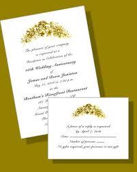 50th anniversary invites golden