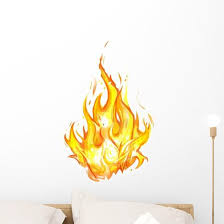 Fire White Background Beautiful Wall Decal Wallmonkeys Com