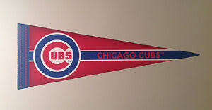 Chicago Cubs Fathead Official Team Pennant Graphic 24 5 X 9 Mlb Wall Decal Ebay