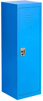 Amazon Com Locker For Kids Metal Locker For Bedroom Kids Room Steel Storage Lockers For Toys Clothes Sports Gear 49 Inch Blue Office Products