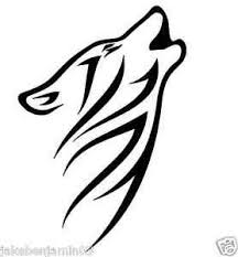 Howling Tribal Wolf Vinyl Graphic Decal Car Window Sticker White Nice Ebay