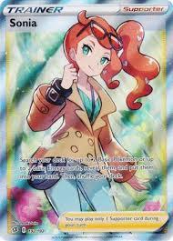 Pokemon Sword and Shield Rebel Clash Single Card Ultra Rare Sonia ...