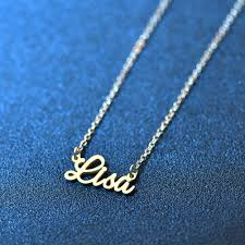 personalized name necklace gold pendant