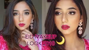 simple pink eid makeup look 2018 you