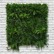 Screening Artificial Green Wall Living Hedge Panel 100 X 100cm