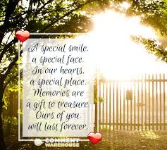 a special smile a special face in our hearts a special place