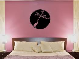 Wall Decal Sakura Heron Crane Bird Flower Japan Vinyl Sticker Ed1050 Wallstickers4you